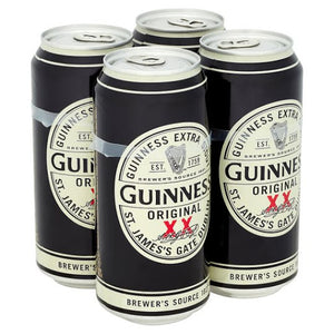 Guinness Extra Stout Cans - 4x500ml