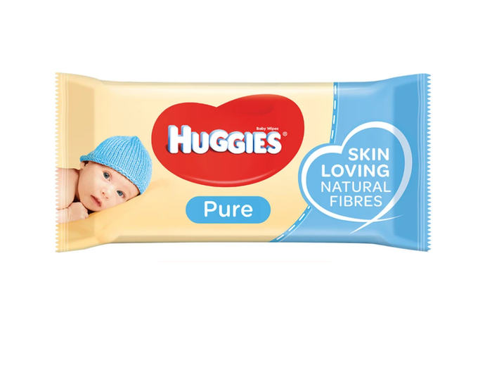 Huggies Pure Baby Wipes - Pack 56 Wipes