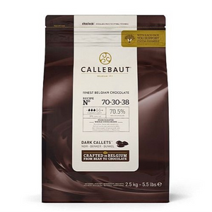 Callebaut Extra Dark (70.5%) Chocolate Pellets - 2.5kg-Watts Farms