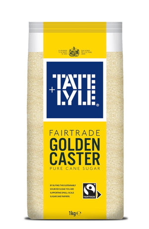 Golden Caster Sugar - Fairtrade - 1kg-Watts Farms