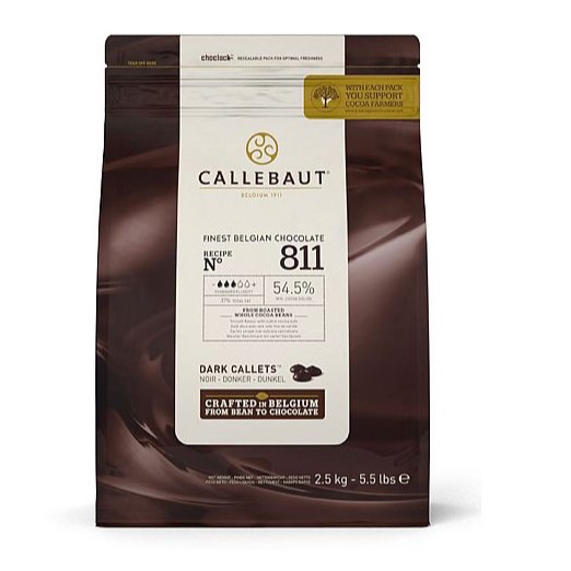Callebaut Dark (54.5%) Chocolate Pellets - 2.5kg