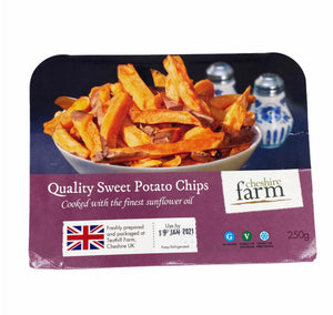 Cheshire Farm - Sweet Potato Fries - 250g