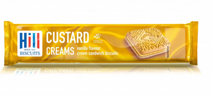 Custard Cream Biscuits - 150g Pack-Watts Farms