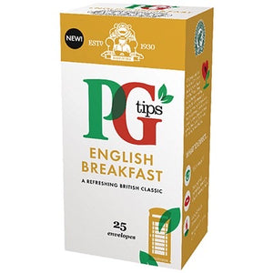 PG Tips - English Breakfast - Pack of 25-Watts Farms
