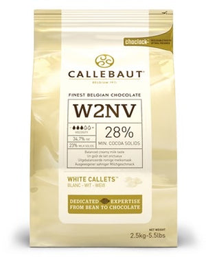 Callebaut White Chocolate Pellets - 2.5kg-Watts Farms