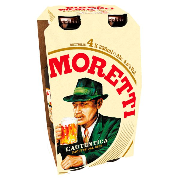 Moretti Beer - 4x330ml
