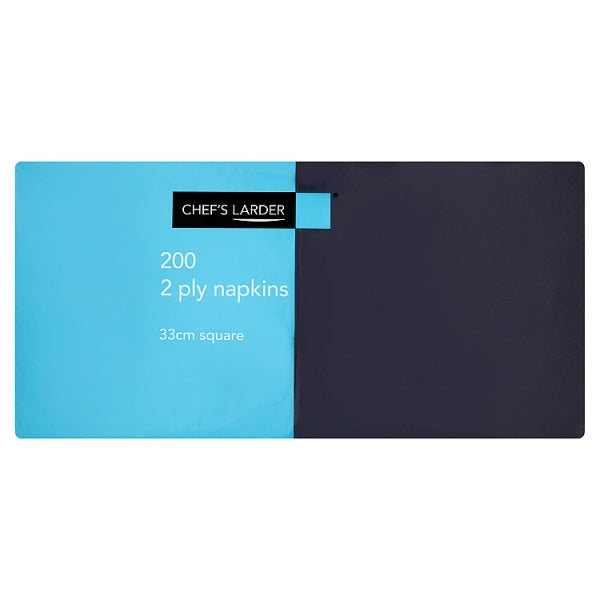Napkins Black 33cm 2 Ply - Pack of 200