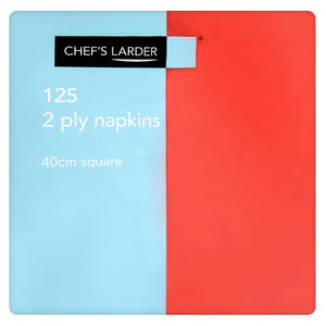 Napkins Red 40cm 2 Ply - Pack of 125