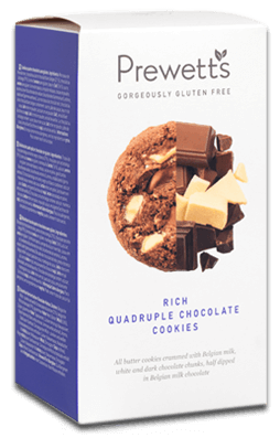 Prewett's Gluten Free Rich Quadruple Chocolate Cookies - 150g-Watts Farms