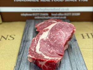 Hepburns Dry Aged Ribeye Steaks - 2x240g-Watts Farms