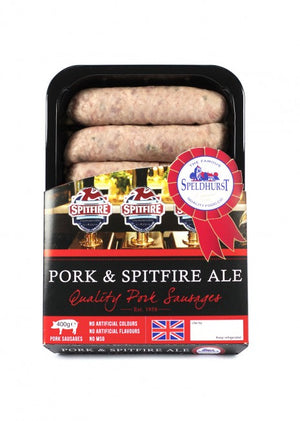 Speldhurst Sausages - Spitfire Ale - 400g (Pack of 6)
