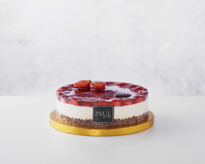 PAUL - Strawberry Summer Cheesecake (6-8ppl) (72 hours notice)