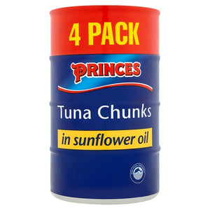 Princes Tinned Tuna in Sunflower Oil - 4x145g
