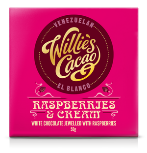 Willie's Cacao Chocolate - Raspberries and Cream White chocolate - 50g-Watts Farms