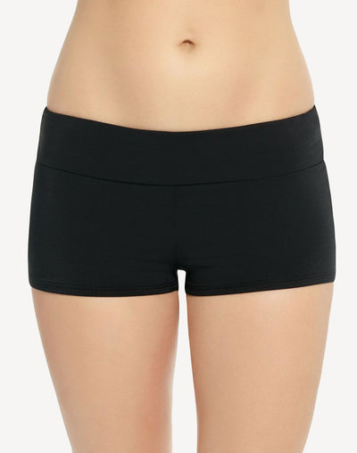 Captiva Solid Ocean Wave Boyleg Bottom#color_black