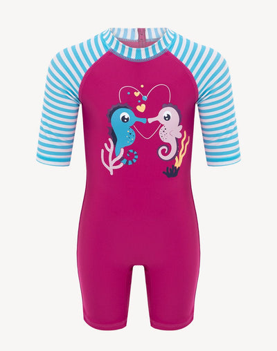 5 Oceans Toddler Girl's Seahorse UV Suit#color_pink