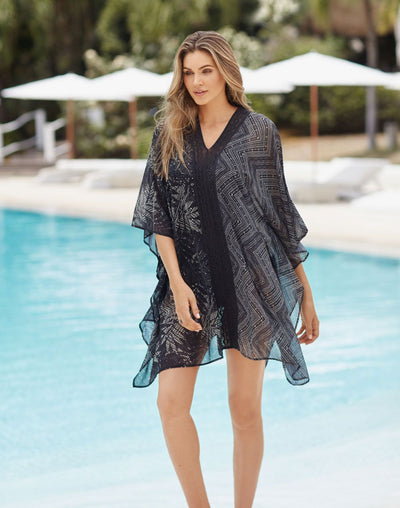 Miraclesuit Tulum Caftan Cover Up#color_black