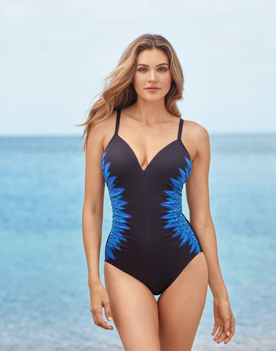 Miraclesuit Curacao Crossback Underwire One Piece#color_blue