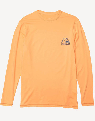 Quiksilver Boy's Heritage Loose Fit Long Sleeve Surf Shirt#color_orange