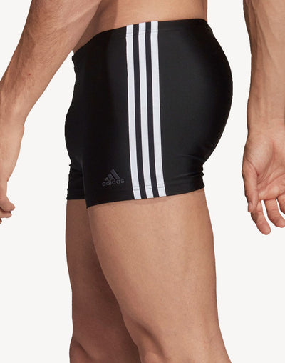 Adidas Fitness 3 Stripes Swim Boxer#color_black