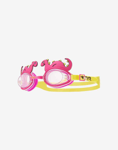 Kids Pink Dino Goggles#color_pink
