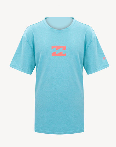 Billabong Boy's All Day Wave Loose Fit Short Sleeve Rashguard#color_blue