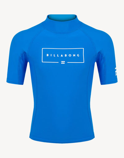 Billabong Boys Union Performance Fit Short Sleeve Rashguard#color_blue