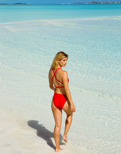 Body Glove Ibiza Missy High Leg One Piece#color_red