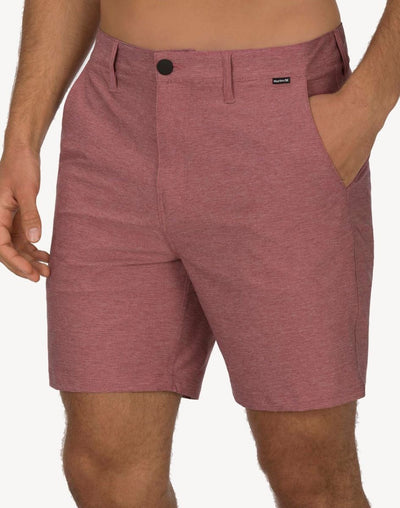 "Hurley Men's Phantom 18""  Walkshort Hybrid#color_red"