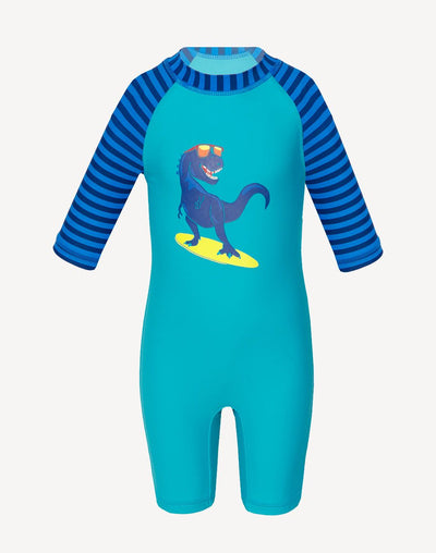 5 Oceans Toddler Boys Dinosaur UV Suit#color_green