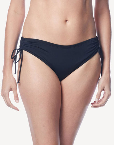 Beach House Solid Adjustable Side Bikini Bottom#color_black