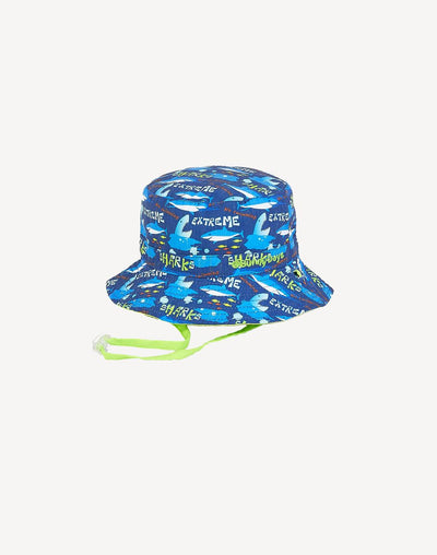 Sunny Dayz Crew Cotton Reversible Bucket Hat#color_blue