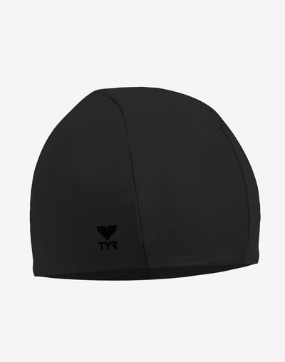 TYR Coloured Polyester Cap#color_black