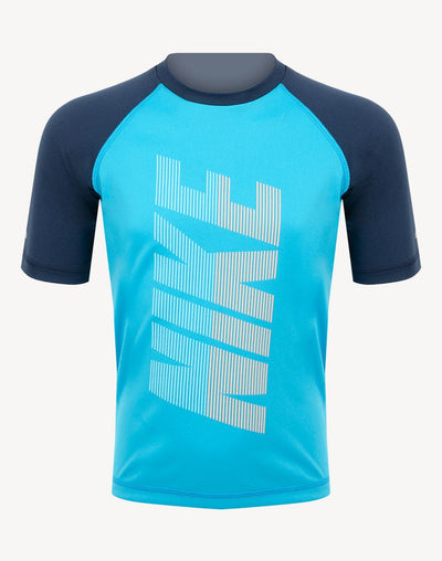 Nike Toddler Boys Rift 1/2 Sleeve Hydroguard Rashguard#color_blue