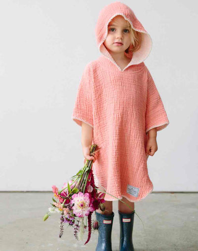 Pebble Poncho#color_coral