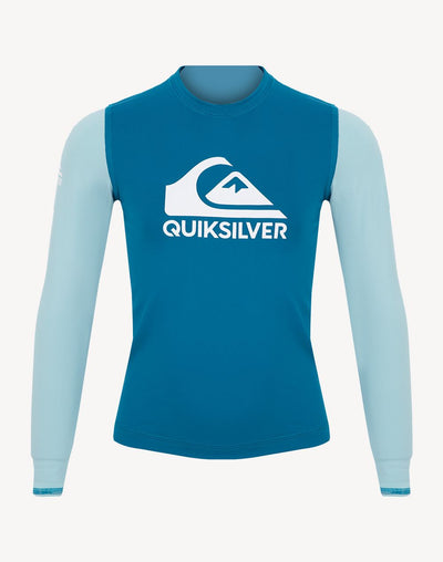 Quiksilver Toddler Boy's Heats On Long Sleeve Rashguard#color_blue