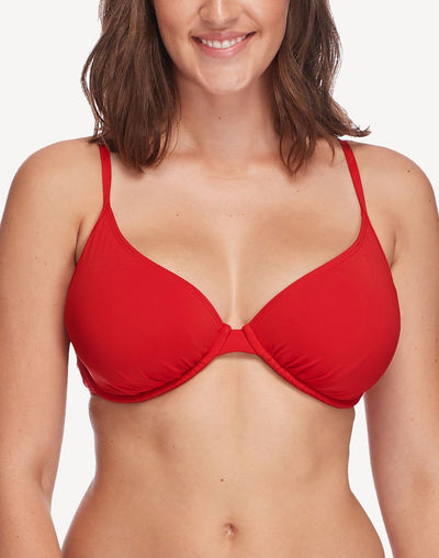 Skye Solids Hilary D/DD/E Bikini Top#color_red