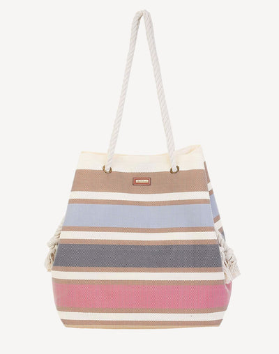 Sun'N'Sand Multi Stripe Gap Tote Bag#color_neutral
