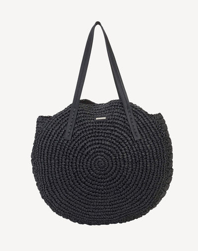 Sun'N'Sand Orabel Shoulder Tote Bag#color_black