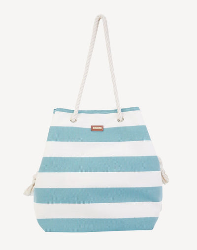 Sun'N'Sand Blue Stripe Gap Tote#color_blue