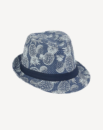 Sunny Dayz Boy's Blue Pineapple Fedora#color_blue