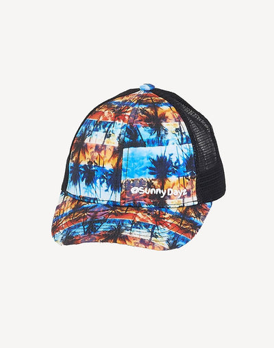 Sunny Dayz Boy's Meshback Trucker Hat#color_blue