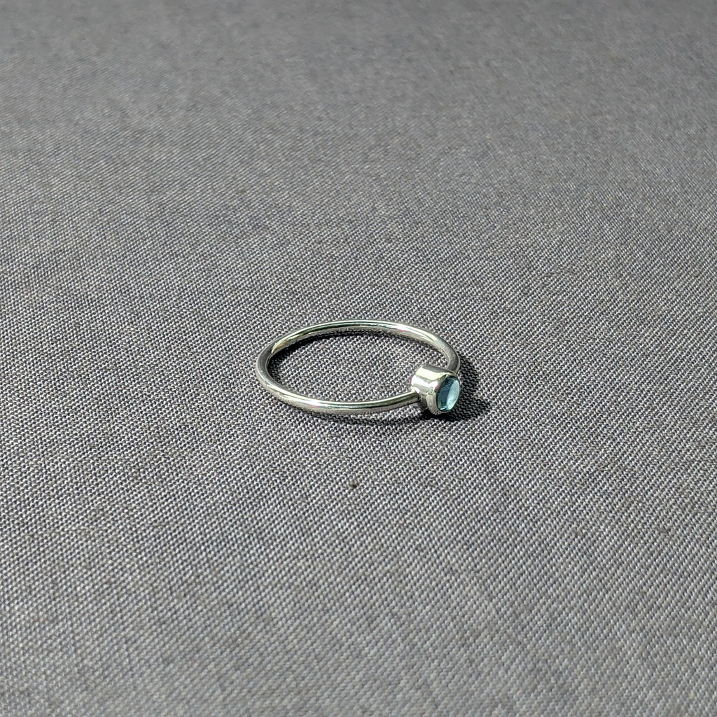 Blue Topaz Stacking Ring, Size 7