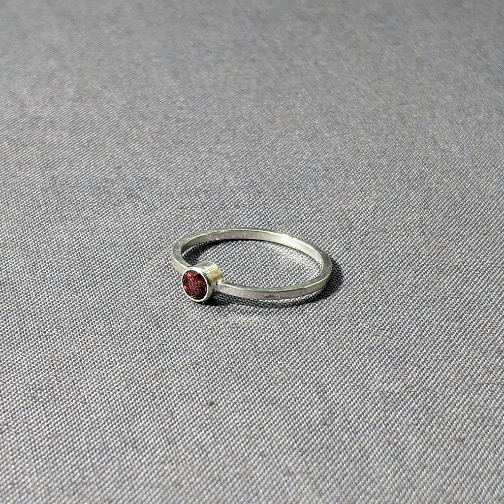 Garnet Stacking Ring, Size 8
