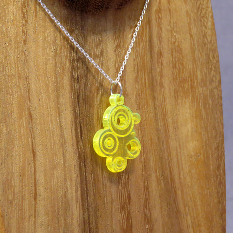 Bubble Pendant Small Fluorescent Yellow Acrylic