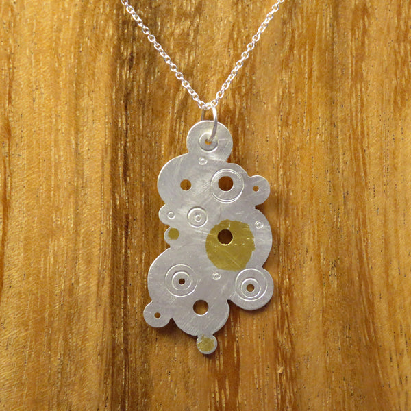 Bubble Pendant Large Silver and Gold
