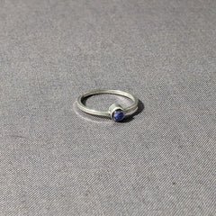Iolite Cabochon Stacking Ring, Size 6