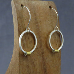 Silver Rings with Keum-boo Earrings, Square
