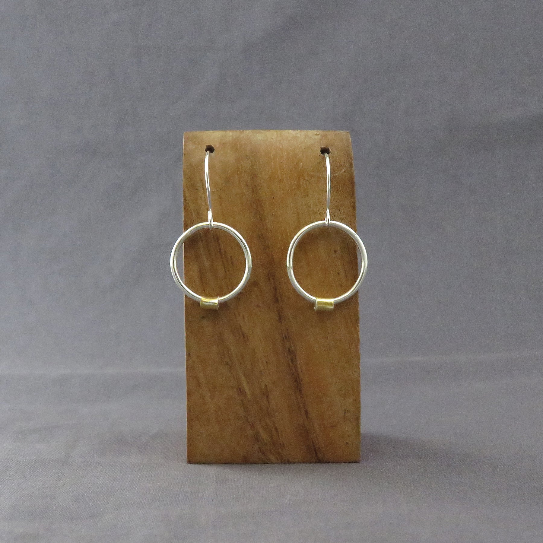 Silver Rings with Keum-boo Earrings, Round