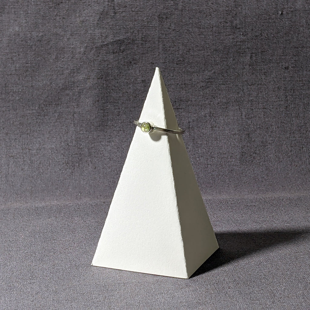 Peridot Stacking Ring, Size 7